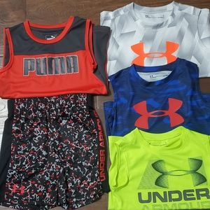 5T, Boy tank tops and shorts. Bundle of 5.